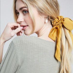 'Gretta' Hair Ribbon Scrunchie